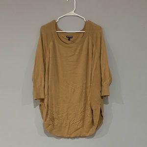 Express Camel Color Circle Hem Sweater